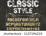 font alphabet script typeface...   Shutterstock .eps vector #1137196223