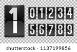 numbers from mechanical... | Shutterstock .eps vector #1137199856