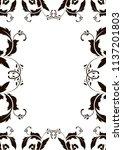 frame border design template.... | Shutterstock .eps vector #1137201803