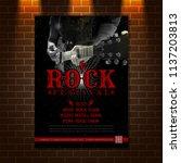 guitar rock music festival... | Shutterstock .eps vector #1137203813