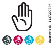 raise hand   participation icon ... | Shutterstock .eps vector #1137207749