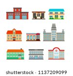 city builder set. public... | Shutterstock .eps vector #1137209099
