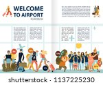 airport services information... | Shutterstock .eps vector #1137225230
