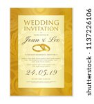 wedding invitation design... | Shutterstock .eps vector #1137226106