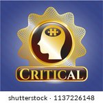 gold shiny emblem with head... | Shutterstock .eps vector #1137226148