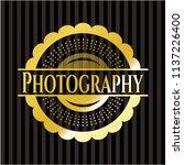 photography gold badge or emblem | Shutterstock .eps vector #1137226400