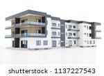 3d contemporary apartment block ... | Shutterstock . vector #1137227543