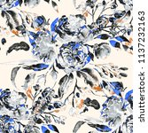 watercolor seamless pattern...   Shutterstock . vector #1137232163