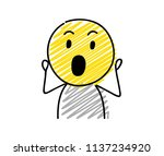 icon of stickman with surprised ... | Shutterstock .eps vector #1137234920