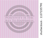 positivity is the key to... | Shutterstock .eps vector #1137235790