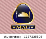 gold badge with special food... | Shutterstock .eps vector #1137235808