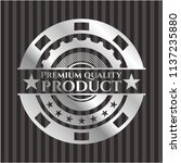 premium quality product silvery ... | Shutterstock .eps vector #1137235880