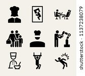 set of 9 people filled icons... | Shutterstock . vector #1137238079