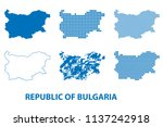 map of republic of bulgaria  ... | Shutterstock .eps vector #1137242918