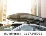 long black trunk on the roof of ...   Shutterstock . vector #1137245033