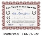 red diploma or certificate... | Shutterstock .eps vector #1137247220