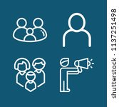 set of 4 man outline icons such ... | Shutterstock . vector #1137251498