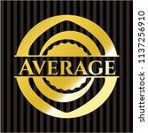 average gold badge | Shutterstock .eps vector #1137256910