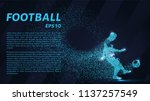 football of the particles... | Shutterstock .eps vector #1137257549