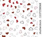 dark red vector seamless... | Shutterstock .eps vector #1137258068