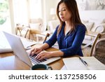 young asian businesswoman... | Shutterstock . vector #1137258506