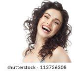 portrait of attractive ... | Shutterstock . vector #113726308