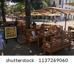 exterior cafes on the street... | Shutterstock . vector #1137269060