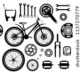bicycles. seamless vector... | Shutterstock .eps vector #1137270779