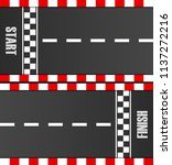 start and finish line racing... | Shutterstock .eps vector #1137272216