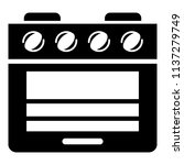 stove gas oven icon. simple... | Shutterstock .eps vector #1137279749