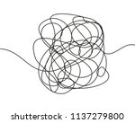 abstract scribble  chaos doodle ... | Shutterstock .eps vector #1137279800