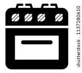 culinary oven icon. simple... | Shutterstock .eps vector #1137280610