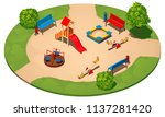 children's playground on a... | Shutterstock .eps vector #1137281420
