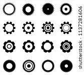 set of flat icons of gears.... | Shutterstock .eps vector #1137281606