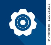 flat icon of gear with long... | Shutterstock .eps vector #1137281633