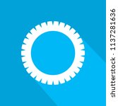 flat icon of gear with long... | Shutterstock .eps vector #1137281636