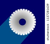 flat icon of gear with long... | Shutterstock .eps vector #1137281639