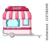 auto street shop icon. cartoon... | Shutterstock .eps vector #1137282440