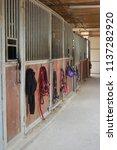 example of clean internal barn... | Shutterstock . vector #1137282920