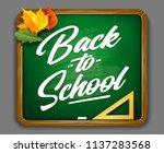 back to school vector lettering ... | Shutterstock .eps vector #1137283568