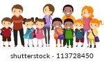 illustration of school kids... | Shutterstock .eps vector #113728450