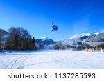 bansko ski resort panorama with ... | Shutterstock . vector #1137285593