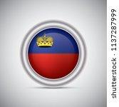 liechtenstein flag button style....   Shutterstock .eps vector #1137287999