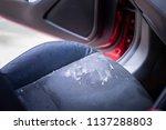 vomit or puke left over in the... | Shutterstock . vector #1137288803