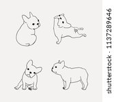 french bulldog clipart with 4... | Shutterstock .eps vector #1137289646
