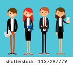 group young confident people... | Shutterstock .eps vector #1137297779