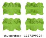 handwriting practice sheet.... | Shutterstock .eps vector #1137299324