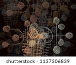 contemporary art. hand made art.... | Shutterstock . vector #1137306839