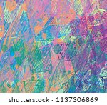contemporary art. hand made art.... | Shutterstock . vector #1137306869