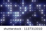 bright flash of led lights with ... | Shutterstock . vector #1137313310